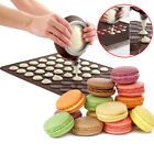 Silicone Pastry Macaron Baking Mould Sheet Mat Decorating Pen+4 Nozzles