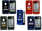 NFL Football 2-Piece Silicone Hardshell Fits iPhone 5 5s Phone Case - Pick Team