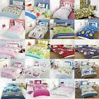 Kids Childrens Single Bed Size Girls Boys Duvet Cover Quilt Set And Pillow Case