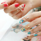 Cute Butterfly Snake Starfish Twisted Above Knuckle Band Midi Finger Nail Ring