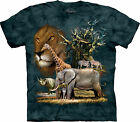 Africa Collage Adult  Animals Unisex T Shirt The Mountain