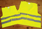 Single Hi Visability Vest Reflective Road Bike Vest Yellow Adult or Child Size