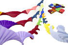 4 VINTAGE RETRO STYLE CREPE PAPER CHRISTMAS PARTY DECORATIONS (dark 4 mix)