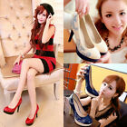 Fashion Ladies' Shoes Synthetic Leather High Heels Platform Pumps All US Sizes