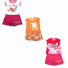 GIRLS PEPPA PIG 2 PIECE SHORTS & T-SHIRT SET AVAILABLE IN PINK, RED & ORANGE