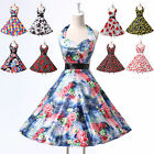 CHEAP NEW Rockabilly 50s 60s Flower Print Vintage Swing Party Evening Prom Dress