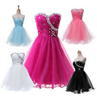 Strapless TUTU Evening Cocktail Homecoming Short Prom Bridesmaid Dresses 5COLORS