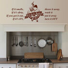 Kitchen Rules Quote Wall Art Vinyl Sticker Modern Decals Home Decorations 2