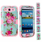 Dustproof 3 in 1 Protector Phone Case Cover For Samsung Galaxy S3 S3 SIII i9300