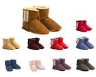 Baby Ugg boots Sheepskin booties with velcro Australian Made  -14 colors