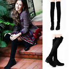 New Women's Over The Knee Thigh High Lace Up Military Ladies Combat Boots Shoes