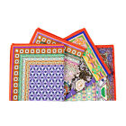 ZARA HOME NEW COLLECTION 2014. ( SET OF 4 ) PLANTS COMBINED PRINT COTTON NAPKINS