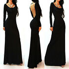 Chic Sexy Backless Floor Length Slim Evening Ball Gown Cocktail Prom Party Dress