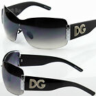 Womens DG Eyewear Fashion Designer Shield Wrap Sunglasses Shades Large Oversized