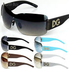 Womens DG Eyewear Fashion Designer Shield Wrap Sunglasses Around Retro Oversized