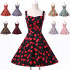 Retro Housewife Petticoat Rockabilly Party Vintage PIN UP Swing 50s Prom Dress