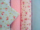 4 x FQ fat quarter bundle  100% cotton fabric for patching craft and bunting