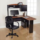 New Computer Desk Chair Corner L-Shape Hutch Ergonomic Study Table Home Office