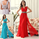 Clearance!! Long Evening Cocktail Bridesmaid Wedding Ball Gown Prom Party Dress