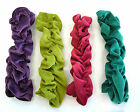 -30% 8Colour LONG RUFFLE Velvet FINGERLESS Gloves ARMWARMERS  HIPPY Dance BOHO