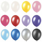 """Balloons 12"""" Pearlised Latex Helium Quality Party Weddings Birthdays 12 Colours"""