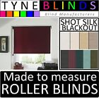 Louvolite SHOT SILK BLACKOUT made to measure ROLLER BLINDS  straight / scalloped