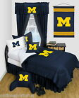 Michigan Wolverines Comforter Bedskirt & Sham Set Twin Full Queen LR