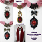 Gothic Cameo Pendant Necklace Jewellery Scarf Chocker to put on your own scarf