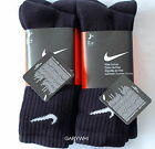 6 PAIRS MENS NIKE CREW SPORTS SOCKS BLACK SEALED IN PACK WITH TAGS