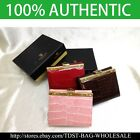 [OMNIA]Crystal Ladies Wallet Genuine Leather Trifold Purse ID Card CoinsBag333S