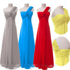 2014 Stock Chiffon Evening Prom Party Cocktail Wedding Gown Bridesmaid Dress