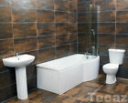Claire Dunhill P Shaped Showerbath Bathroom Suite Right Hand + Taps Option