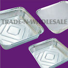 INDIVIDUAL SQUARE FOIL TRAYS, DISHES, CASES, CONTAINERS, DISPOSABLE ALUMINIUM