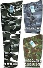 Mens Camo Camouflage Combat Camo Workwear Work Cargo Army Trousers Pants NEW!!!!