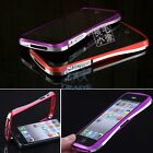 New Double Color Deluxe Metal Aluminum Frame Bumper Case For iPhone 5 -10 Colors