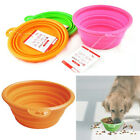 Pet Dog Cat Trendy Feeding Water Feeder Silicone Collapsible Travel Bowl Dish