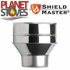 Stainless Steel Shieldmaster Increasing Adapter Single To Twin Wall Flue Pipe