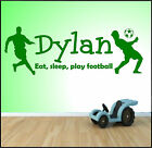 Personalised Wall Art Sticker Any Name Boys Bedroom Football Man Utd Chelsea Etc