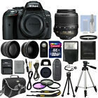 Nikon D5300 Digital SLR Camera + 3 Lens Kit 18-55mm VR Lens +32GB Bundle