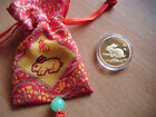 Chinese Zodiac Lucky Gold Plated Coin Year of Health Weath Happiness Gift Luck