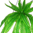 "47"" 120cm SILK PRINT 42 LEAVES ARTIFICIAL BOSTON FERN BUSH PLANTS GARLANDS SWAG"