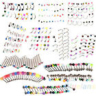 FASHION 20X COOL RHINESTONE EYEBROW NOSE LIP TONGUE BELLY NAVEL BUTTON BODY RING