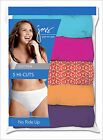 5 Pair Just My Size JMS Womens Plus Size 9-13 Cotton Hi-Cut Panties Assorted