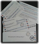 ANY COLOUR AIRMAIL Personalised Vintage Boarding Pass Ticket Wedding Invitations