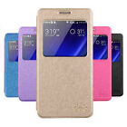 PU Leather Stand Case Flip Cover + Screen Protector for Huawei Cell Phone