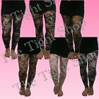 Lace Floral Designer FOOTLESS Tights - Selection of Colours - (Flirt)