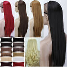 Uk Ship Sexy Long 3/4 Wig Fall Clip In Hair Piece Cosplay Costume Half Wig Party