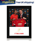 Ángel Di María Signed Photo FRAMED Print Manchester United FC