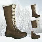 BRASHER WOMENS ETOSHA LEATHER WATERPROOF INSULATED WINTER BOOTS  - BROWN - NEW