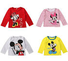 Cartoon Minnie Mickey Mouse Baby Girls Boys Blouses Tops Shirt Hoodie Sweatshirt